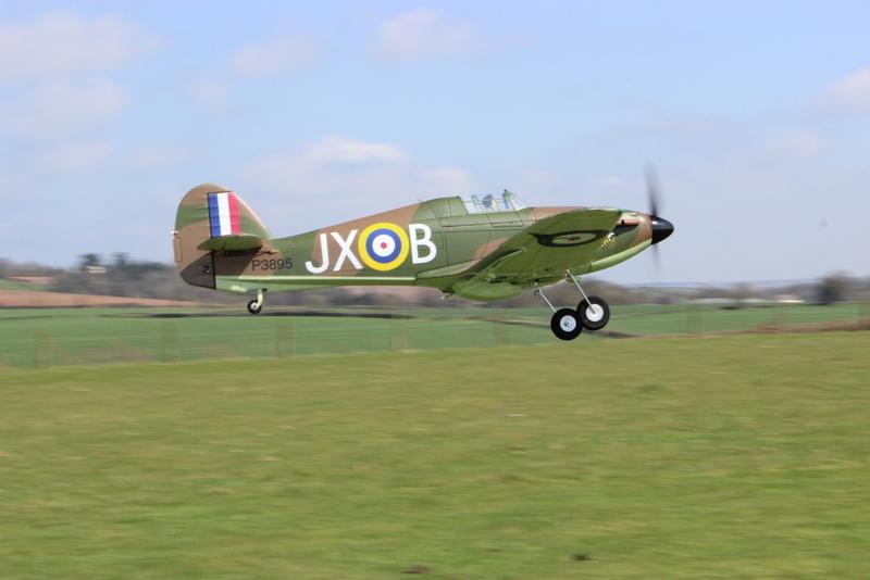 Okehampton Model Flying Club Member, Chris Podbury's Hurricane, Bow 20042013